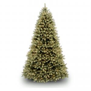 National Tree Downswept Douglas(R) Fir Tree with Dual Color LED Lights-Size:9 Ft