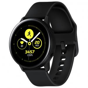SAMSUNG Galaxy Watch Active – Bluetooth Smart Watch (40mm) Black – SM-R500NZKAXAR