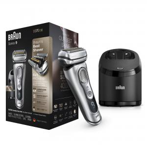 Braun Series 9 9370cc Wet Dry Mens Electric Shaver with Clean Station