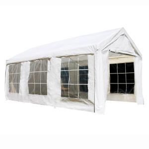 ALEKO Outdoor Canopy Tent with Sidewalls and Windows – 10 X 20 FT – White