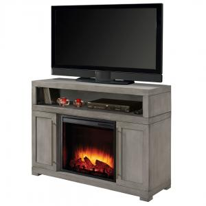 Mackenzie 48-in Media Electric Fireplace in Light Weathered Grey