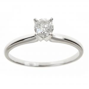 1 Carat T.W. Round White Diamond 14kt White Gold Solitaire Ring, IGL certified