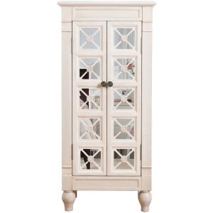 Hives & Honey Celine Standing Mirrored Jewelry Armoire – White