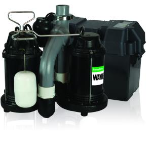 WAYNE WSS30V Combination 1/2 HP and 12-Volt Combination Sump System