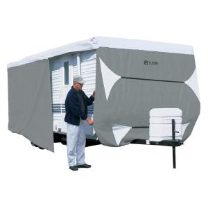 Classic Accessories Over Drive PolyPRO3™ Deluxe Travel Trailer Cover or Toy Hauler Cover, Fits 18′ – 20′ RVs