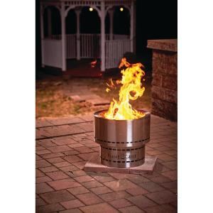 HY-C FG-19-SS Flame Genie Inferno Wood Pellet Fire Pit, Stainless Steel