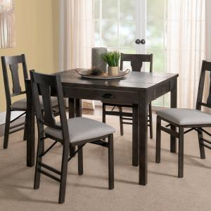 Powell Flynn Expandable 5 Piece Console Dining Set