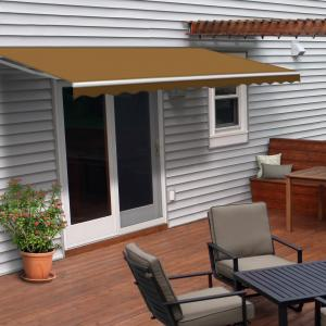 ALEKO 20'x10′ Retractable Motorized Patio Awning, Sand Color