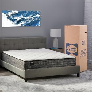 Sealy Response Essentials 12″ Encased Coil Innerspring Mattress in a Box, Twin