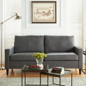 Mainstays 72.5″ Woven Fabric Apartment Sofa, Gray