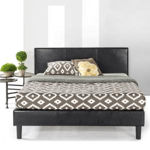 Best Price Mattress Agra Upholstered Faux Leather Platform Beds