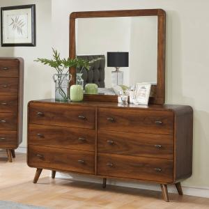 Simple Relax 6-Drawer Dresser, Dark Walnut