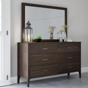Devon & Claire Carrington Wood 6 Drawer Dresser & Mirror Set