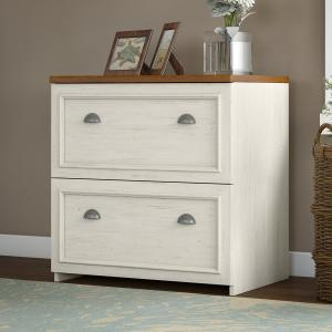 Bush Furniture Fairview Lateral File Cabinet in Antique White