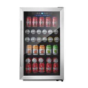 Kalamera 4.2 Cu.Ft 150-Can Beverage Refrigerator Stainless Steel Touch Control