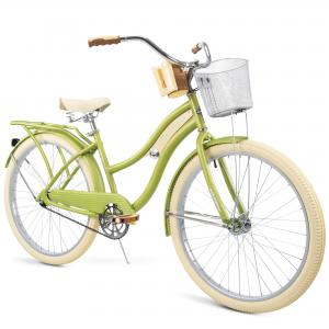 Huffy, Nel Lusso Classic Cruiser Bike with Perfect Fit Frame, Women's, Green, 26″