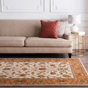 Art of Knot Melanie Beige/Rust Traditional 9′ x 13′ Area Rug