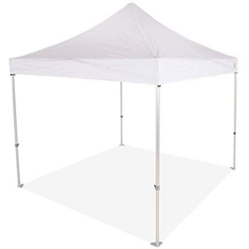 Impact Canopy 10 x 10 Instant Pop Up Canopy Tent, Commercial Grade Aluminum Frame, Roller Bag, White