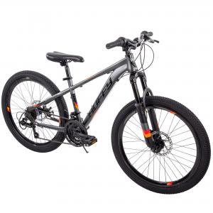 Huffy 24″ Scout Boys' Hardtail 21-Speed Mountain Bike with Disc Brakes