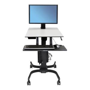 Ergotron 24-216-085 Workfit-C Sit-Stand Workstation For Single Large Display Hd With Mobile Cart B