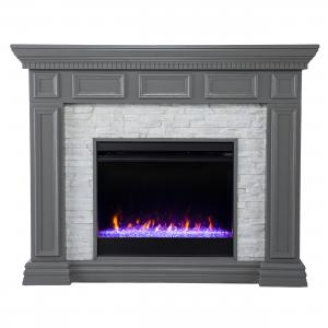 Dazairee Color Changing Fireplace w/ Faux Stone