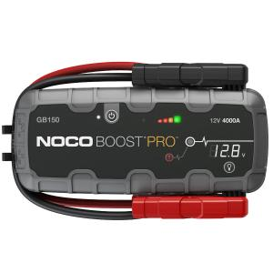 NOCO Boost Pro GB150 Jump Starter – 3000 Amp, 12-Volt, Li-ion Battery, 56W Fast Charge, LED flashlight, w/Heavy Duty Clamps, For Up To 9.0L Gasoline/7.0L Diesel Engines
