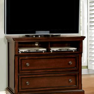 Furniture of America Violeta Transitional 2-Drawer Media Chest, Dark Cherry