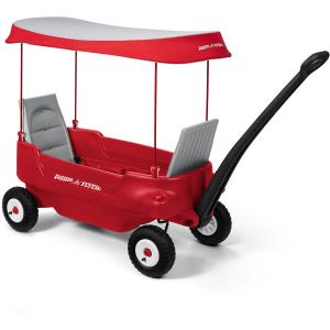 Radio Flyer, Deluxe All-Terrain Pathfinder Wagon with Canopy, Air Tires
