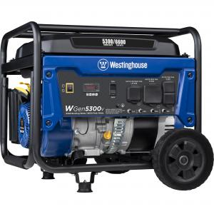 Westinghouse WGen5300v Portable Generator – 5300 Rated Watts & 6600 Peak Watts – RV & Transfer Switch Ready – Gas Powered – CARB Compliant