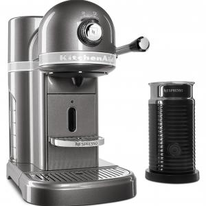 Nespresso Espresso Maker by KitchenAid with Milk Frother (KES0504MS)