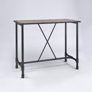 ACME Caitlin Bar Table, Rustic Oak and Black, Chairs Sold Separately