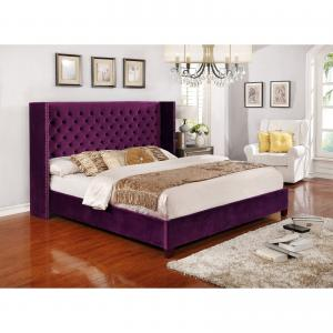 Nathaniel Home Aliyah Button Tufted Platform Bed