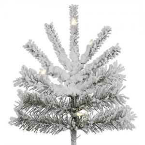 Vickerman 10′ Flocked Sierra Fir Artificial Christmas Tree with 1450 Warm White LED Lights
