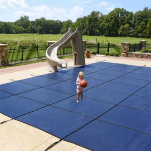 Blue Wave 14′ x 28′ Rectangular Mesh In-Ground Pool Safety Cover – Blue