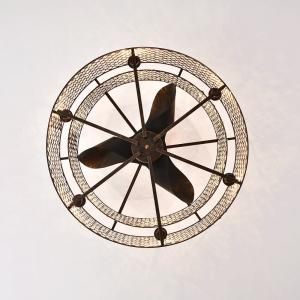 Miyaka 6-light Metal 3-blade 29-inch Rustic Bronze Ceiling Fan (with Remote)