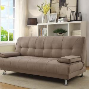 Coaster Pierre Sofa Bed, Tan Microfiber