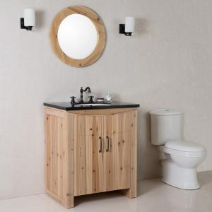 Bellaterra Home 30 Inch Single Sink Vanity Solid Fir, Natural
