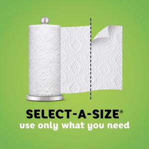 Bounty Select-A-Size Paper Towels, White, 12 Double Rolls