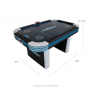Triumph 5′ Lumen-X Freeze LED Light Up Air-Powered Hockey Table Includes 2 LED Pushers and LED Puck