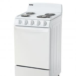 Danby 20″ Wide Electric Range with 2.3 Cu Ft Oven in White, DER202W