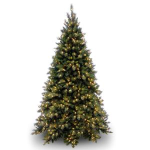 National Tree Tiffany Fir Medium Tree with Clear Lights-Size:9 Ft