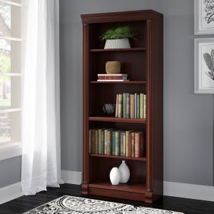 Bush Furniture Birmingham 5 Shelf Bookcase in Harvest Cherry