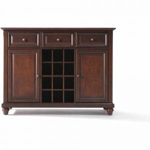 Crosley Furniture Cambridge Buffet Server and Sideboard Cabinet with Wine Storage