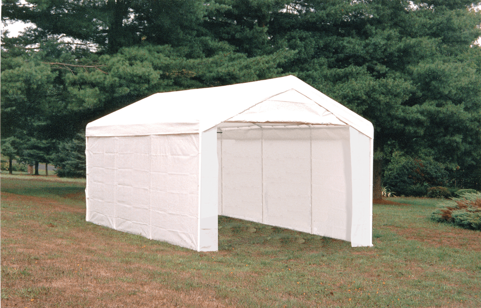 Shelterlogic Max AP Canopy 3-in-1 10′ x 20′ 1-3/8″ 4-Rib Frame White Cover Enclosure and Extension Kits
