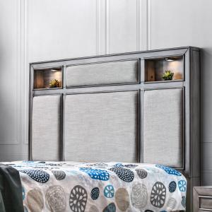 Furniture of America Ayana Wood Panel Bed, Queen, Gray