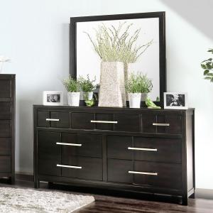 Furniture of America Lowell 2-Piece Dresser and Mirror Set, Espresso