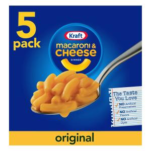(3 Pack) Kraft Original Flavor Macaroni & Cheese Dinner, 5 x 7.25 oz Boxes