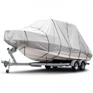 Budge 1200 Denier Hard Top / T-Top Boat Cover, Waterproof, Premium Outdoor Protection for Hard Top / T-Top Boats, Multiple Sizes
