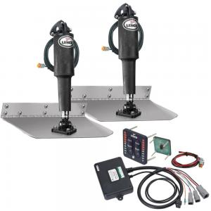 09×12″ complete standard mount trim tab kit 12V (switch included with Led indicator) – LENCO FO-3961