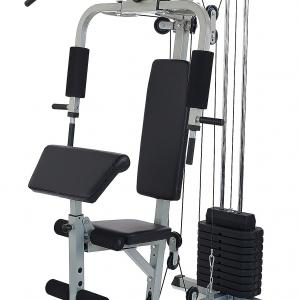 Everyday Essentials Home Gym System Workout Station with 330LB of Resistance, 125LB Weight Stack, Comes with Installation Instruction Video